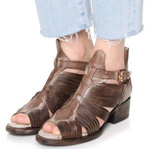 Freebird Arrow Leather Heeled Gladiator Sandals